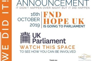 FND Hope UK is going to Parliament to raise awareness of FND